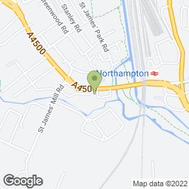 Map of Westbridge Motors Northampton in Northampton, northamptonshire