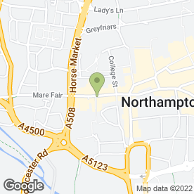 Map of Redhot Pizza & Grillhouse in Northampton, northamptonshire