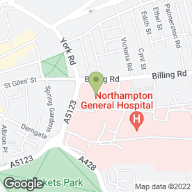 Map of Cripps Leisure & Social Club in Northampton, northamptonshire