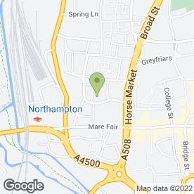 Map of Vue Cinema in Northampton, northamptonshire