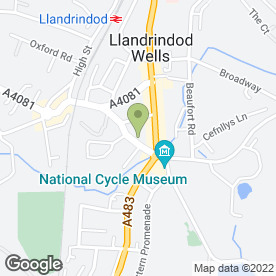 Map of The Candyman in Llandrindod Wells, powys