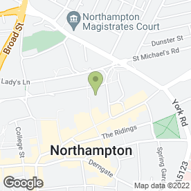 Map of Removals Northampton in Northampton, northamptonshire