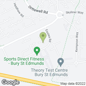 Map of WARNE MOTORS BURY in Bury St. Edmunds, suffolk