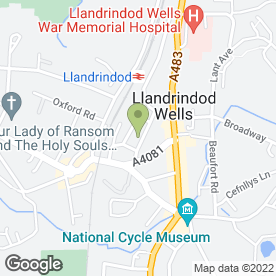 Map of Marina Gallery Photographers in Llandrindod Wells, powys