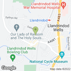 Map of POWERPRINT in Llandrindod Wells, powys