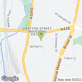 Map of Britannia Preservation (Northampton) in Lower Harding Street,, Northampton, northamptonshire