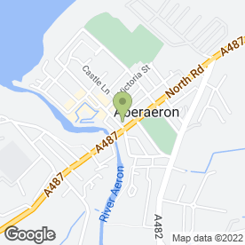 Map of CASTLE HOTEL in Aberaeron, dyfed