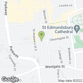 Map of Bedfords in Bury St. Edmunds, suffolk