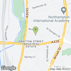 Map of Small Removals & Storage in Northampton, northamptonshire