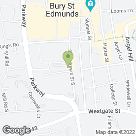 Map of Charlie's Kebab House in Bury St. Edmunds, suffolk