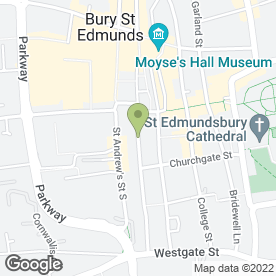 Map of Greene & Greene Solicitors in Bury St. Edmunds, suffolk