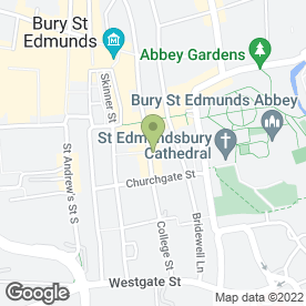 Map of BURNETT BARKER SOLICITORS in Bury St. Edmunds, suffolk