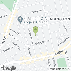 Map of Ansuiya Shah Mobile Beauty Therapist in Northampton, northamptonshire