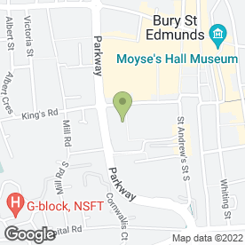 Map of Waitrose Ltd in Bury St. Edmunds, suffolk