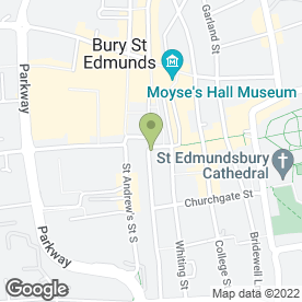 Map of Unique Kitchens & Bedrooms in Bury St. Edmunds, suffolk