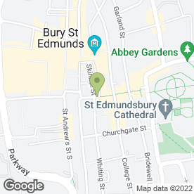 Map of Greggs in Bury St. Edmunds, suffolk