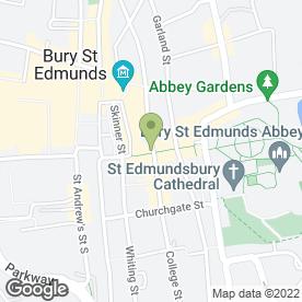 Map of THURLOW CHAMPNESS in Bury St. Edmunds, suffolk