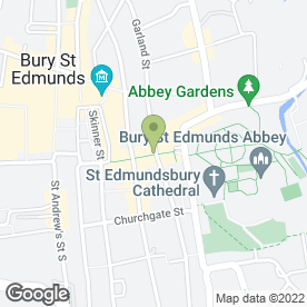 Map of Chimichanga in BURY ST. EDMUNDS, suffolk