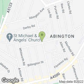 Map of Cutting Edge in Northampton, northamptonshire