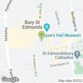 Map of Laura Ashley Ltd in Bury St. Edmunds, suffolk