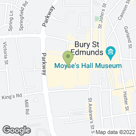 Map of The Apex in Bury St. Edmunds, suffolk