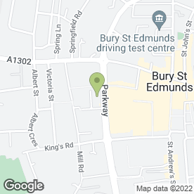Map of Cineworld Cinemas in Bury St. Edmunds, suffolk