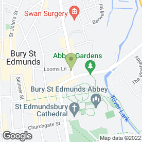 Map of SK Clinic & Spa in Bury St. Edmunds, suffolk