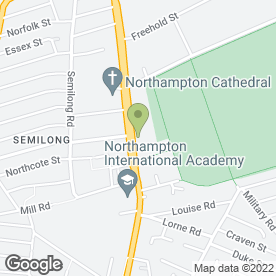 Map of LANGHAM HOTEL in Northampton, northamptonshire
