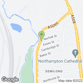 Map of Allen & Jane Roofing Contractors in Northampton, northamptonshire