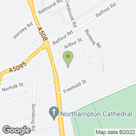 Map of Barratts Club in Northampton, northamptonshire