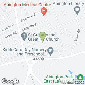 Map of Abington Services in Northampton, northamptonshire