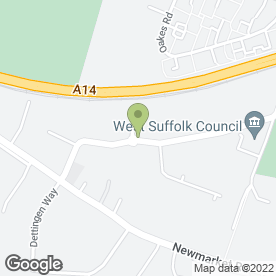 Map of ASDA Stores Ltd in Bury St. Edmunds, suffolk