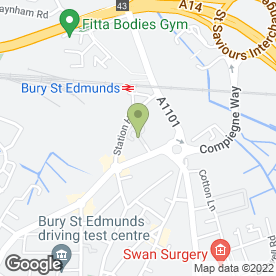 Map of Luscious Hair Extensions in Bury St. Edmunds, suffolk