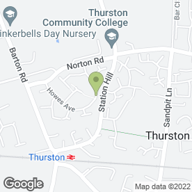 Map of Victoria Dale in Thurston, Bury St. Edmunds, suffolk