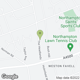 Map of Willow Plumbing & Heating Ltd in Northampton, northamptonshire
