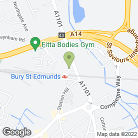 Map of A14 Performance Exhaust in Bury St. Edmunds, suffolk