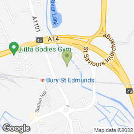 Map of Tesco in Bury St. Edmunds, suffolk