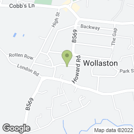 Map of Wollaston P.O in Wollaston, Wellingborough, northamptonshire