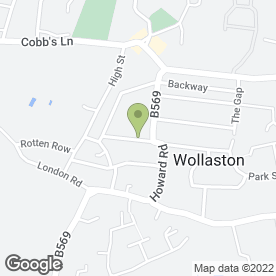Map of R.J Parsons & Co.Ltd in Wollaston, Wellingborough, northamptonshire