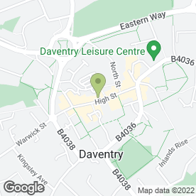Map of ROSE & SARGENT ESTATE AGENTS in Daventry, northamptonshire