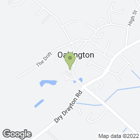 Map of Oakington Village Stores & Post Office in Oakington, Cambridge, cambridgeshire