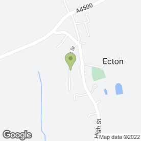 Map of Ecton Village Primary School in Ecton, Northampton, northamptonshire