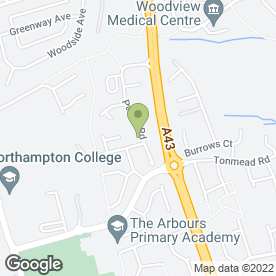 Map of Inflatable Entertainment Co. in Northampton, northamptonshire