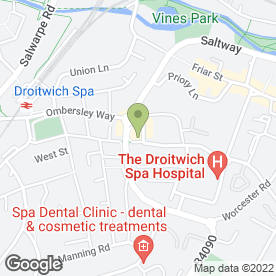 Map of Lotus House in Droitwich, worcestershire