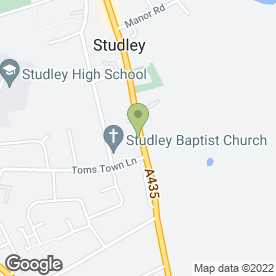 Map of Roy's Bikes in Studley, warwickshire