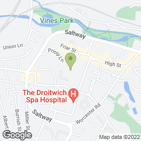 Map of Wm Morrison Supermarkets plc in Droitwich, worcestershire