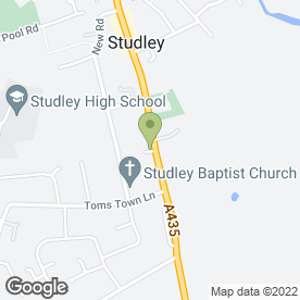 Map of Castle Forestry in Studley, warwickshire