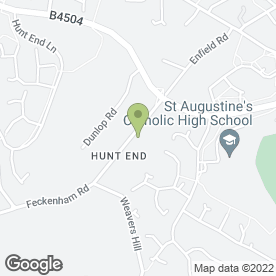 Map of REDDITCH CRACKLING PIG in Hunt End, Redditch, worcestershire