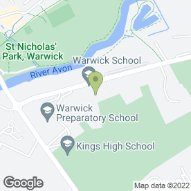 Map of Warwick School in Warwick, warwickshire
