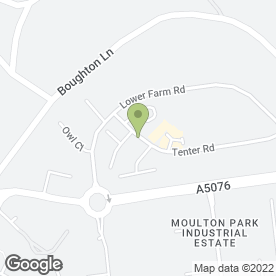 Map of CYBER SIGN CO in Moulton Park Industrial Estate, Northampton, northamptonshire
